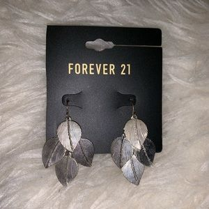 Forever 21 Leaf Earrings